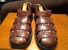 """SAO Mens (Size 13M) #63126-02 Brown Leather Sandals """"EUC"""""""