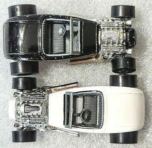 Vintage Hot Wheels Street Rodder, '32 Ford, 1 White 1 Black, Lot of 2, Loose
