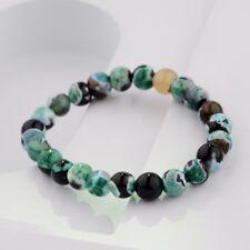 8mm Natural Stone Green Round Beads Women Men's Bracelets Charm Jewelry Gift