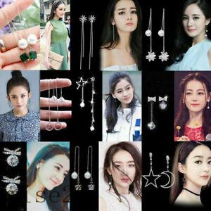 Women Thread Drop Jewelry Line Simple Dangle Chain Hook Long Earrings Threader