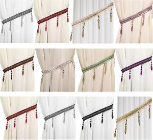 Beaded Curtain Tie Back Gem Holdbacks Braid Voile Window Rope