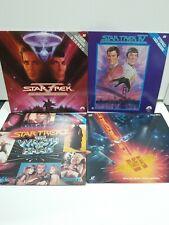 Star Trek Laserdisc Lot of 4 - Star Trek II, IV, V, VI