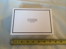 New Authentic Coach White & Brown Men's Small Wallet Size Gift Box Only