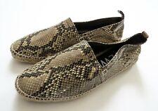 NEW LOEWE Genuine Python Snakeskin Leather Espadrilles Shoes 11 US 44 EU 10.5 UK