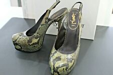 Yves Saint Laurent Snake Skin shoes 91/2 size Brown-Mustard