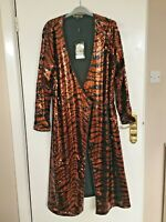BIBA Tiger Sequinned Dress in Rust Tones Size 12 NEW WITH TAGS FREE POSTAGE