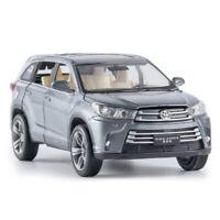 1:32 Toyota Highlander SUV Die Cast Modellauto Spielzeug Model Sammlung Grau
