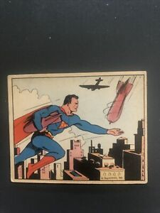 1940 Superman Gum Trading Card #32