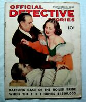 1937 OFFICIAL DETECTIVE STORIES Magazine • 'The Boiled Bride' MURDER & GANGSTERS