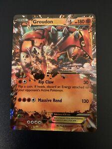 Pokemon! Groudon EX Rare 85/160 Primal Clash Light Play