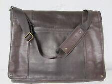 "SOLO Brown Leather EXECUTIVE MESSENGER BAG 16"" Laptop Computer Briefcase"