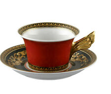 """""""VERSACE"""" BY ROSENTHAL, GERMANY """"MEDUSA RED""""  Tea Cup & Saucer, Superb"""