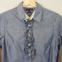 [ TOMMY HILFIGER ] Womens Striped Shirt Top | Size M or AU 10 - 12 or US 6 - 8