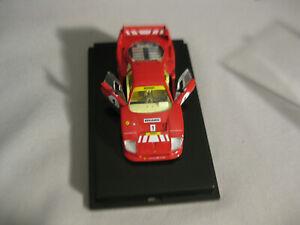 HOT WHEELS-1987 FERRARI F40 RACING 1:43 SCALE CAR MODEL WITH DISPLAY CASE