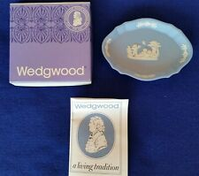 Wedgwood Jasperware Pale Blue and White Silver Tray in Original Box with Leaflet