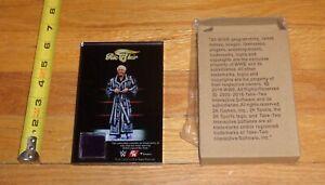 2K19 WWF WWE Nature Boy Ric Flair piece of Purple Robe Plaque WCW NWA NWO AWA