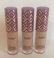 3x TARTE ~Double Duty Beauty Shape Tape CONTOUR Concealer~Light-Medium~Lot of 3