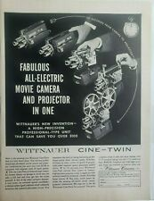 Lot 12 Vtg Movie Camera Print Ads Wittnauer Keystone Kodak Bolex Dejur Bell