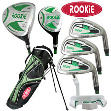 NEW JUNIOR GOLF SET 7 PCE for KIDS 7 ro 10yrs WITH HYBRID - CHILDRENS GOLF CLUBS