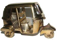 A Pure Brass Tuk-Tuk Classic Vintage Auto Rickshaw Gold Ornament Bar Decoration
