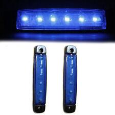 2 Pcs 24V 6 LED Blue Side Marker Lights Indicator Signal SUV Camper Camping Car