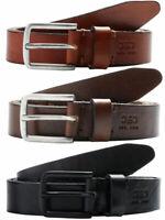 Jack & Jones Mens Leather Belt 'Jaclee'