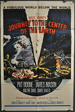 JOURNEY TO THE CENTER OF THE EARTH 1959 ORIG 27X41 MOVIE POSTER JAMES MASON