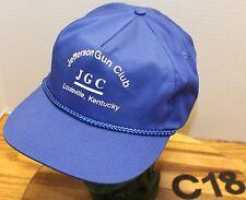JEFFERSON GUN CLUB LOUISVILLE KENTUCKY HAT BLUE SNAPBACK EXCELLENT CONDITION C18