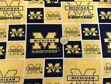 University of Michigan 100% cotton, Welding, Biker, pipefitter,4 panel hat