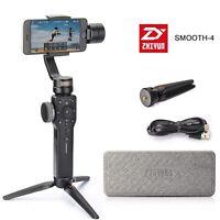 US Zhiyun Smooth-4 Smartphone Camera Gimbal Stabilizer ZY Play App+ Tripod Black