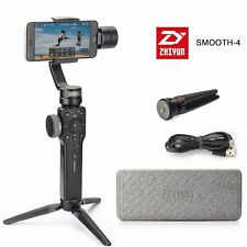 US Zhiyun Smooth-4 Smartphone Camera Gimbal Stabilizer ZY Play App+ Tripod Black