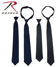 "Men's Black / Midnight Navy Blue Neck Tie 18"" 20"" Breakaway Clip-On/Hook Necktie"
