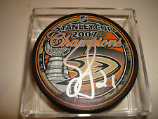Sean O'Donnell Signed 2007 Stanley Cup Champions Hockey Puck Anaheim Ducks 1A