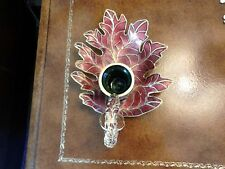 Cloisonne Leaf Candle Holder By Nyco
