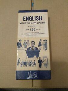 Vintage 1950's Vis-Ed English Vocabulary Cards