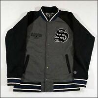 Stussy Varsity Sweatshirt/Jacket | Medium | Grey/Black/Navy | Rare