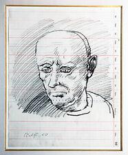 A.R.Penck 1939-2017: Frühwerk 1960 sehr selten Männerporträt Kreide 37 x 29 cm