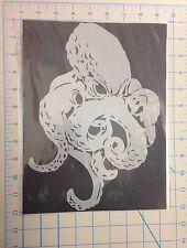 Full Body Octopus mylar reusable stencil 10 mils for Airbrush design art & craft