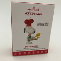 Hallmark 2017 Baker Snoopy Spotlight on #20 Peanuts Baking Cookies Ornament NEW