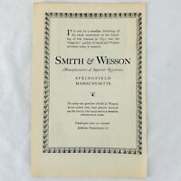 Vintage 1923 Smith & Wesson Manufactures Of Superior Revolvers Print Ad
