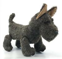 Schuco Trip Trap Terrier Dog 1950s Plush Pull Toy Mechanical 25cm 10in Vtg