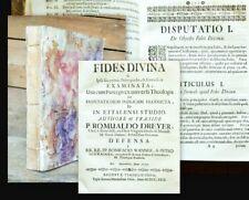 1729 Ettal Benediktiner-Kloster Dreyer Fides Divina
