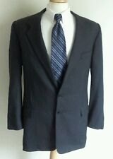 Hickey Freeman Collection Boardroom 2 Button Jacket 46L Mens Wool Charcoal