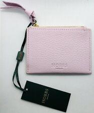 HOBBS London Mini Leather Pink Zipper Wallet Pocket For Women