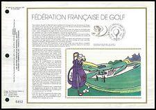 FRANCE CEF 1980 SPORT GOLF ETB ERSTTAGSBLATT z2189