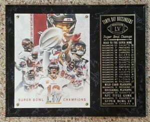 "Tampa Bay Buccaneers 2020-2021 Super Bowl 55 Champions 12"" x 15"" Plaque LV"