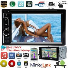 Touchscreen Subwoofer Stereo Car DVD CD Player 2 Din A5 System HD Radio 6.2inch