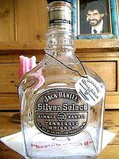 JACK DANIEL'S EMPTY VINTAGE SILVER SELECT~SINGLE BARREL~100 PROOF TENN. WHISKEY