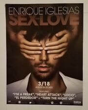 """Enrique Iglesias - Sex and Love 11""""x17"""" promo poster 2 sided I'm a Freak Loco D"""