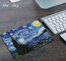 cartoon anti-slip mouse pad  thick seaming game cloth seam rubber the sky color